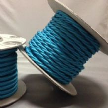 TWIST 2 Core Braided Fabric Cable Lighting Lamp Flex Vintage - TURQUOISE